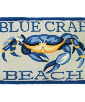 Accents-Waterfront-Blue-Crab-Beach-Novelty-Rectangular-Rug-0-300x360 Beach Rugs and Beach Area Rugs
