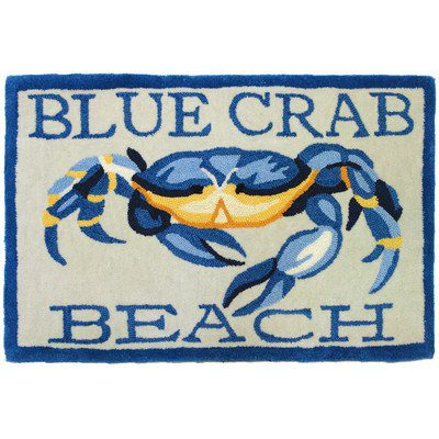 Accents-Waterfront-Blue-Crab-Beach-Novelty-Rectangular-Rug-0 Beach Rugs and Beach Area Rugs