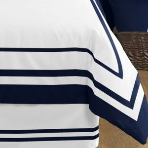 Anchors Away Nautical Navy And White Boys 3 Piece Full Queen Bedding Set 0 1 300x300
