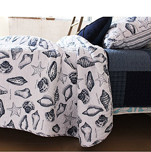 brandream seashells beach themed quilt set - Nautical Bedding