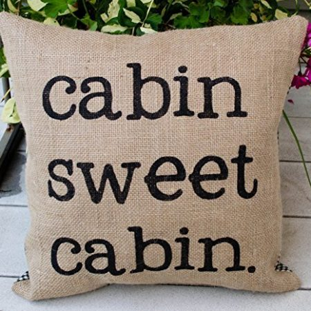 Burlap-Lake-Home-or-Cabin-Pillow-16-Pillow-Rustic-Decor-Northwoods-Lake-House-Pillow-with-Words-Cottage-Retirement-Gift-Rustic-Home-Parents-Gift-0-450x450 Nautical Pillows and Nautical Throw Pillows