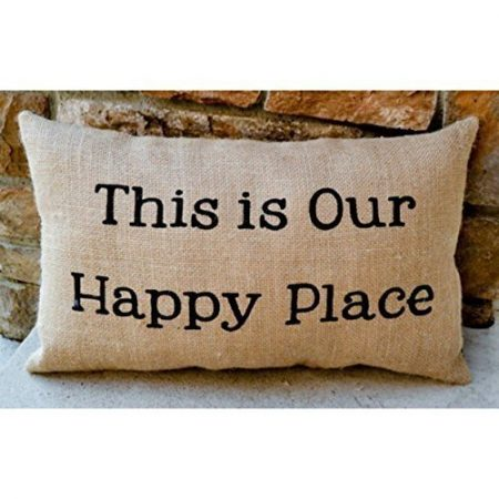 Burlap-Lake-Home-or-Cabin-Pillow-Rustic-Decor-Northwoods-Lake-House-Beach-Retirement-Gift-0-450x450 Nautical Pillows and Nautical Throw Pillows