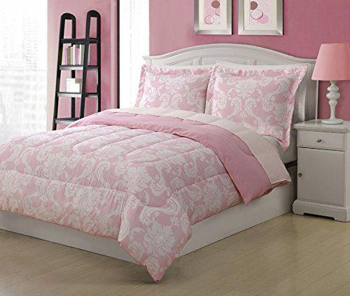 Full-Microfiber-Kids-Dainty-Bedding-Comforter-Set-Pink-0 Kids Beach Bedding & Coastal Kids Bedding