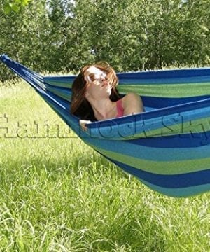 Hammock-Sky-Brazilian-Hammock-Two-Person-Double-for-Backyard-Porch-Outdoor-or-Indoor-Use-Portable-for-Camping-Soft-Woven-Cotton-Bed-for-Supreme-Comfort-0-300x360 100+ Best Rope Hammocks