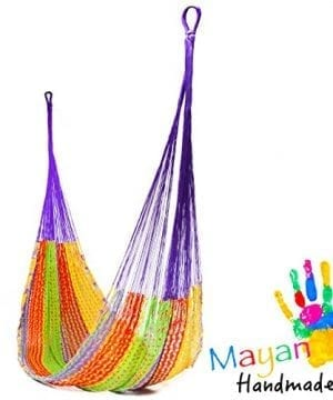 Handmade-Cotton-Hammock-Woven-by-Yucatan-Artisans-A-Fair-Trade-Item-Mold-To-You-Body-And-Most-Comfortable-Mexican-Style-in-Various-Sizes-up-to-770-lbs-Max-0-300x360 100+ Best Rope Hammocks