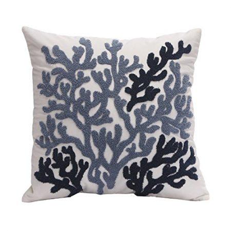 Harbor-House-Beach-House-Square-Decorative-Pillow-0-450x450 Nautical Pillows and Nautical Throw Pillows