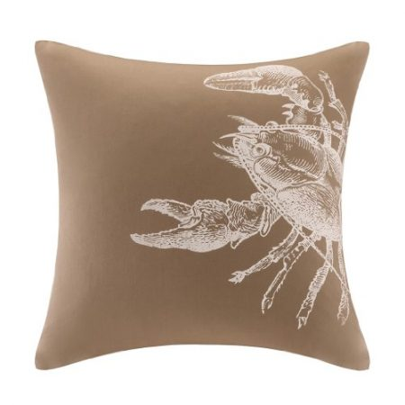 Harbor-House-Sea-Escape-Square-Pillow-16-by-16-Inch-Taupe-0-450x450 Nautical Pillows and Nautical Throw Pillows