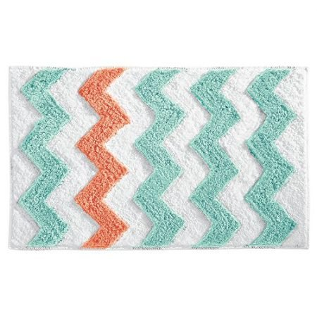 InterDesign-Unisex-Chevron-Rug-GrayYellow-Bath-Rug-0-450x450 Beach Rugs and Beach Area Rugs