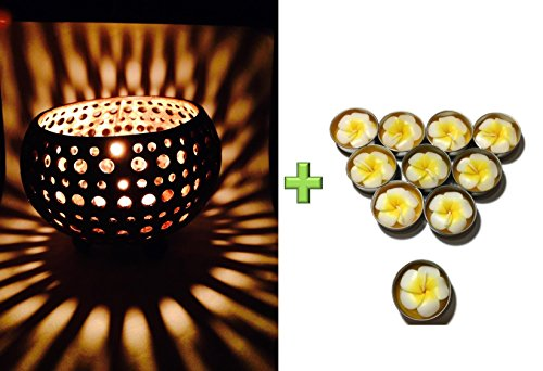 Lovely-Coconut-Shell-w-Free-Tea-Light-with-Fragrant-Flower-Candle-Candle-Holder-Genuinely-Handmade-for-Home-Room-Patio-Party-Decor-0 100+ Coastal Themed Lamps