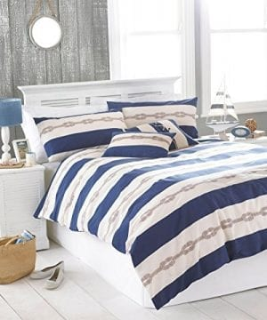 NAUTICAL-KNOT-NAVY-BLUE-CREAM-USA-QUEEN-SIZE-230CM-X-220CM-UK-KING-SIZE-COTTON-BLEND-COMFORTER-COVER-SET-0-300x360 200+ Nautical Bedding Sets and Nautical Comforter Sets