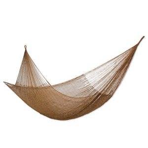 NOVICA-Hand-Woven-Portable-Outdoor-2-Person-Nylon-Mayan-Hammock-Glowing-Bronze-double-Handmade-in-Mexico-0