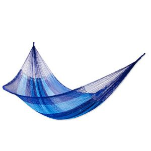 NOVICA-Multicolor-Hand-Woven-2-Person-Striped-Mayan-Hammock-Blue-Caribbean-Double-0-300x300 Best Rope Hammocks For Sale