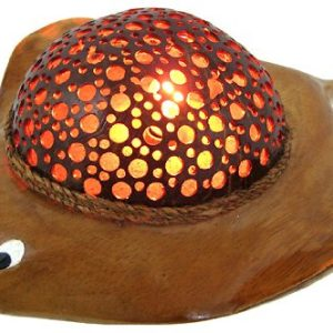 Natural Coconut Shell Stingray Accent Lamp Night Light 0 0 300x300