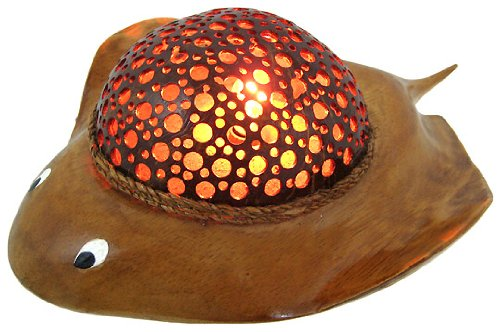 Natural Coconut Shell Stingray Accent Lamp Night Light 0 0