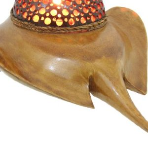 Natural Coconut Shell Stingray Accent Lamp Night Light 0 2 300x300