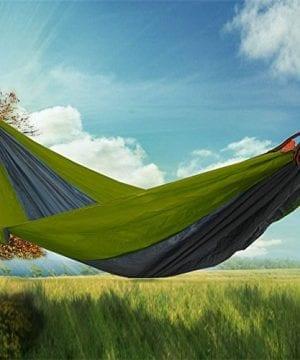 RioRand 2-Person Camping Parachute Hammock, Army Green/Grey