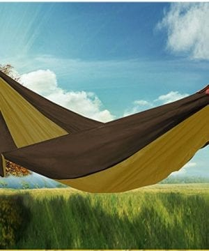 RioRand-2-Person-Portable-Outdoor-Double-Camping-Parachute-Hammocks984-Long-X-55-WideCoffee-Light-tan-0