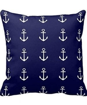 Soft-Cushion-Cover-for-Sofa-Anchor-Navy-Blue-White-Nautical-Pillow-Case-Standard-Size-Pillow-Sham-0-300x360 100+ Coastal Throw Pillows & Beach Throw Pillows