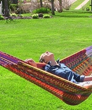 Sunnydaze-XXL-Thick-Cord-Mayan-Hammock-Multiple-Options-Available-0-300x360 100+ Best Rope Hammocks