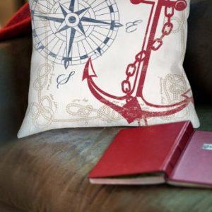 Thumbprintz Square IndoorOutdoor Pillow 16 Inch Anchors Away White 0 0 300x300