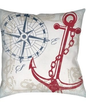 Thumbprintz-Square-IndoorOutdoor-Pillow-16-Inch-Anchors-Away-White-0-300x360 100+ Coastal Throw Pillows & Beach Throw Pillows