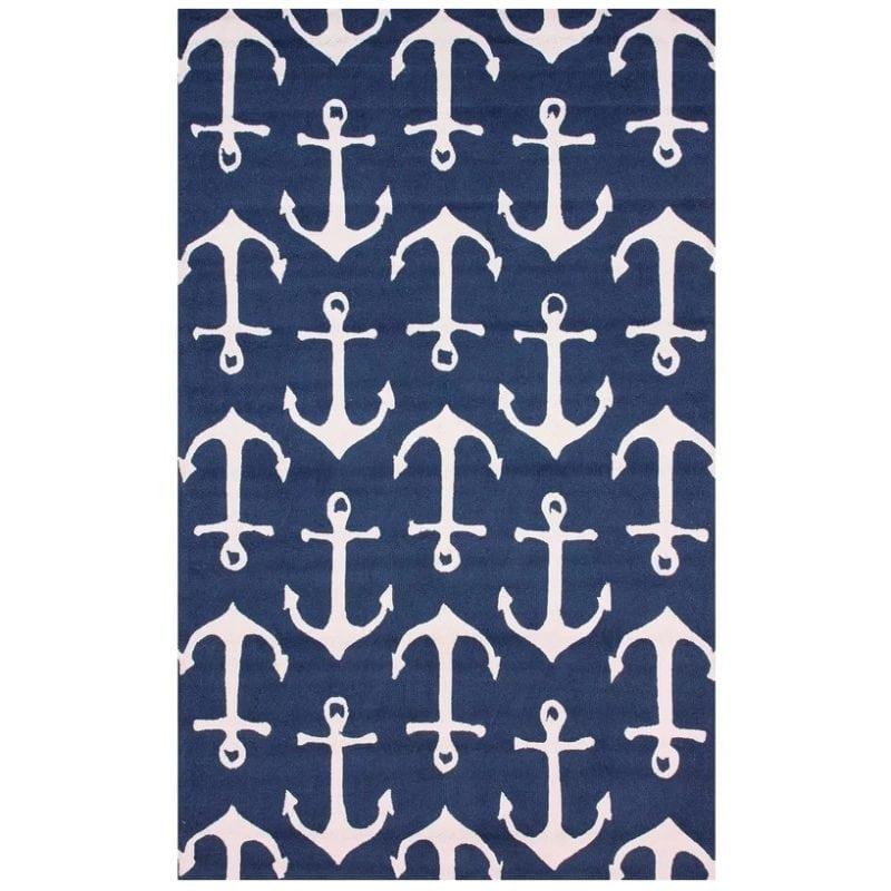 anchor-print-handmade-blue-nautical-rug-800x800 Coastal Rugs and Coastal Area Rugs