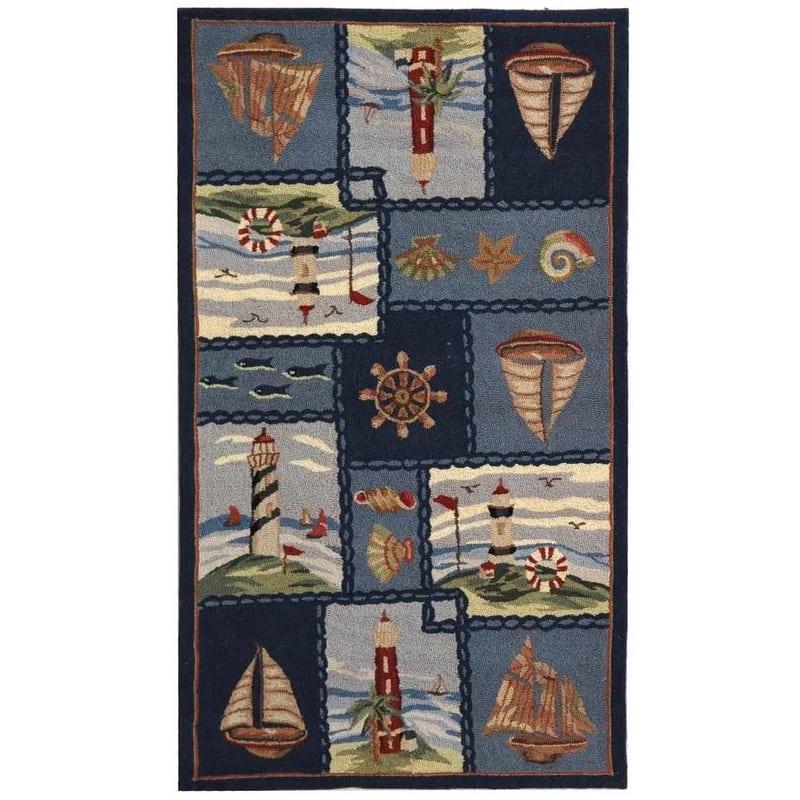 eldridge-cape-cod-novelty-rug Nautical Rugs and Nautical Area Rugs