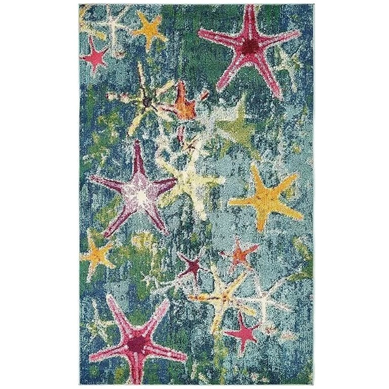 ethel-navy-blue-area-rug Nautical Rugs and Nautical Area Rugs