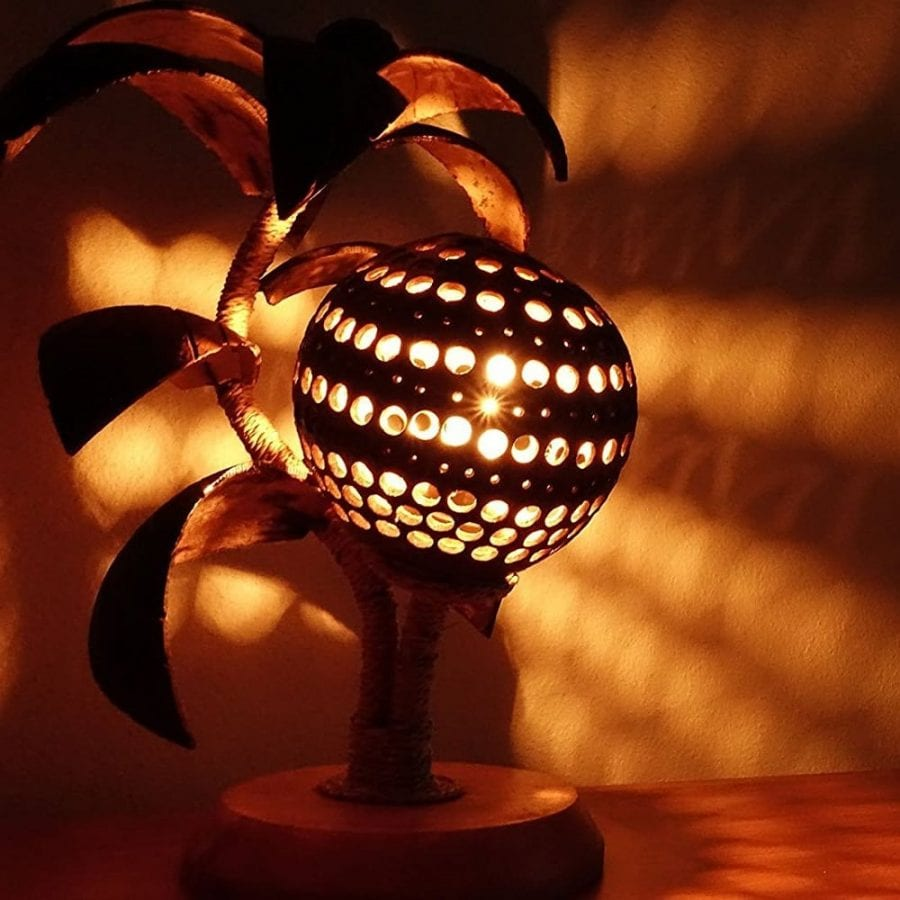 handmade-coconut-shell-lamp Best Coconut Lamps For Sale