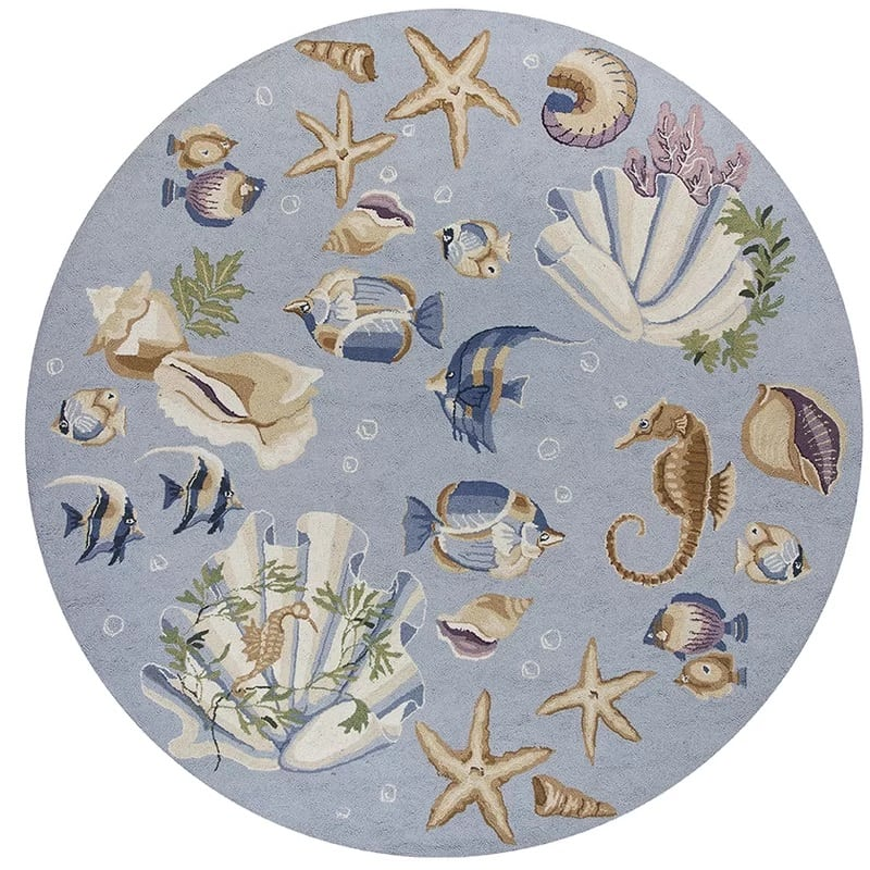 labrosse-blue-nautical-novelty-rug Nautical Rugs and Nautical Area Rugs