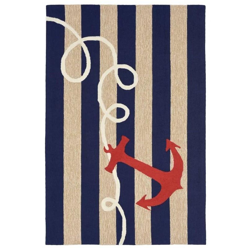 walton-anchor-and-stripes-area-rug Nautical Rugs and Nautical Area Rugs