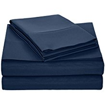 AmazonBasics-Microfiber-Sheet-Set-Queen-Navy-Blue Nautical Bedding Sets & Nautical Bedspreads