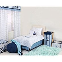 Bacati-Little-Sailor-4-Pc-Toddler-Bedding-Set Nautical Bedding Sets & Nautical Bedspreads