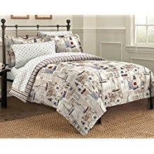 Free-Spirit-Cape-Cod-Seaside-Sailing-Nautical-Comforter-Set-Multi-Colored-Twin Nautical Bedding Sets & Nautical Bedspreads