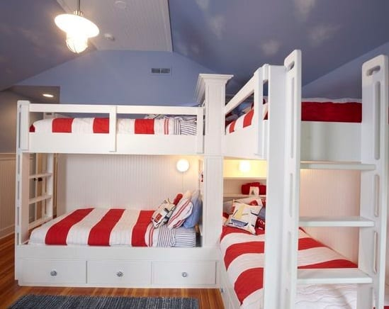 Kids-Bunk-Room-by-Stonebreaker-Builders-and-Remodelers Nautical Bedding Sets & Nautical Bedspreads