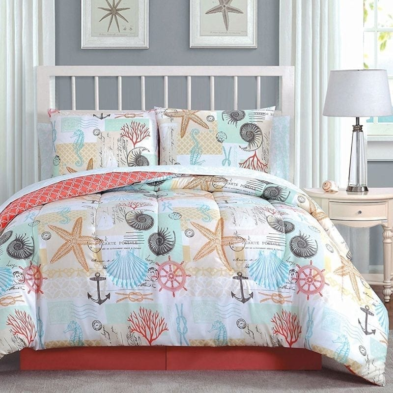 avondale-manor-belize-coral-king-bed-in-a-bag-800x800 100+ Tropical Bedding Sets and Tropical Comforters For 2020
