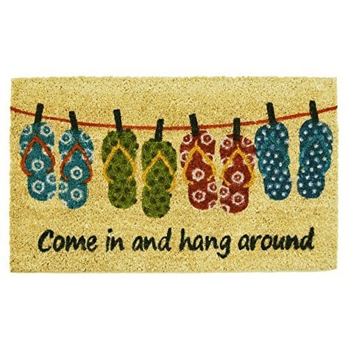 come-in-and-hang-around-flip-flop-doormat Flip Flop Decorations