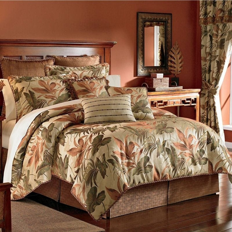 croscill-home-fashions-bali-comforter-set-800x800 100+ Tropical Bedding Sets and Tropical Comforters For 2020