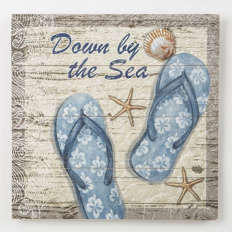 down-by-the-sea-flip-flops-wall-hanging-plaque Flip Flop Decorations