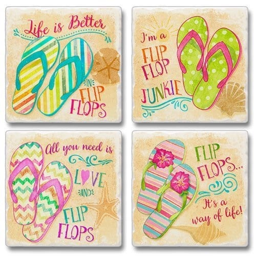 flip-flop-coasters Flip Flop Decorations