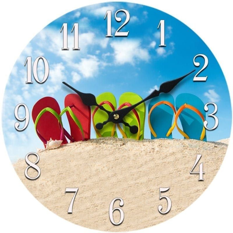 flip-flop-wall-clock-800x800 Flip Flop Decorations