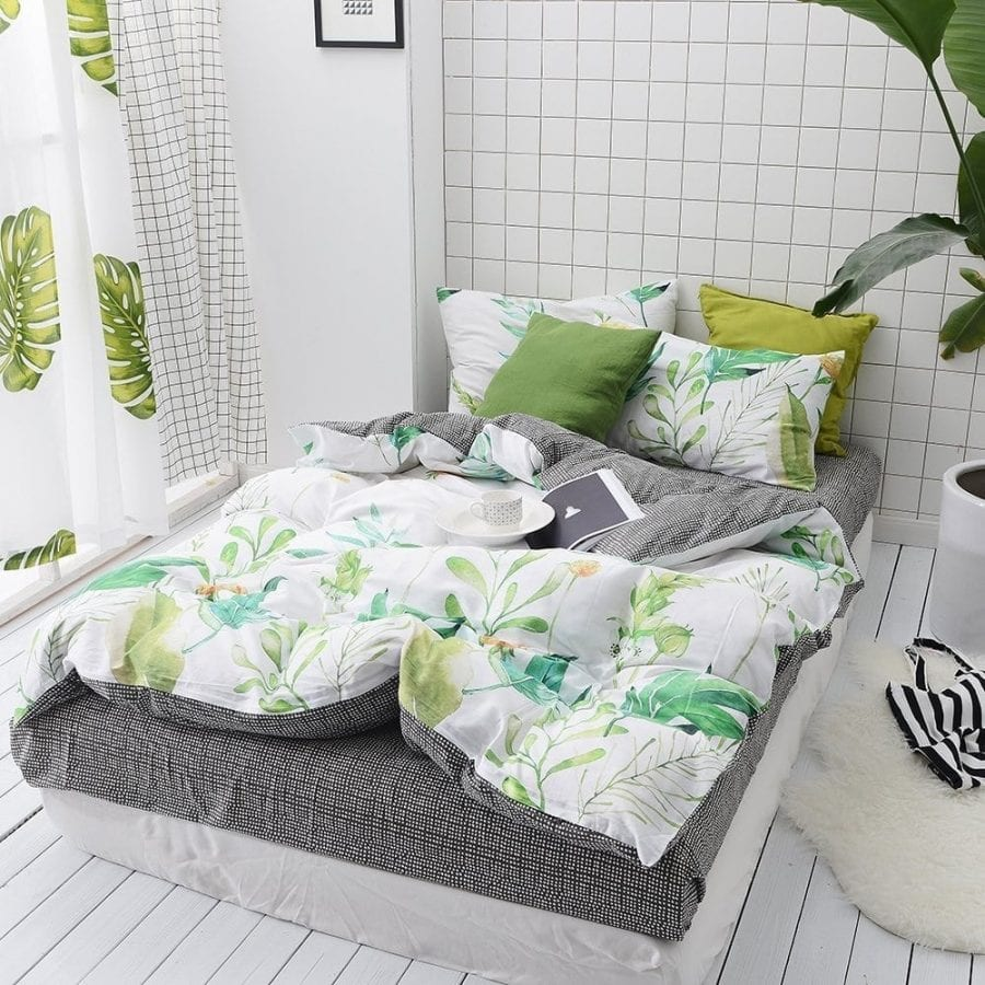 floral-pattern-tropical-duvet-cover-set 100+ Tropical Bedding Sets and Tropical Comforters For 2020