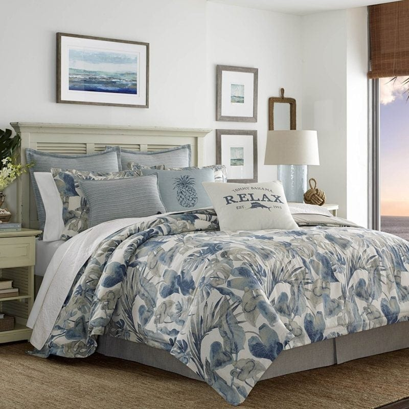 tommy-bahama-raw-coast-comforter-set-800x800 100+ Tropical Bedding Sets and Tropical Comforters For 2020