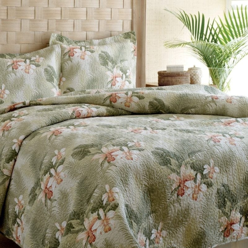 tommy-bahama-tropical-orchid-quilt-set-800x800 100+ Tropical Bedding Sets and Tropical Comforters For 2020