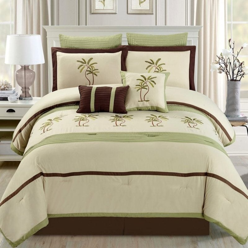 tropical-palm-tree-bedding-set-800x800 100+ Tropical Bedding Sets and Tropical Comforters For 2020