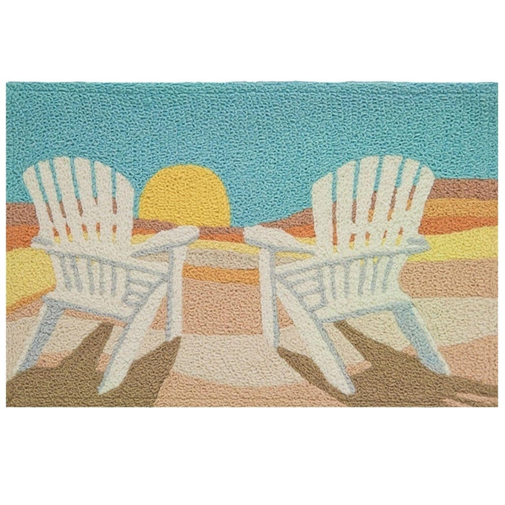 adirondack-chairs-sunset-jellybean-area-rug 75+ Coastal Jellybean Rugs and Beach Jellybean Area Rugs For 2020