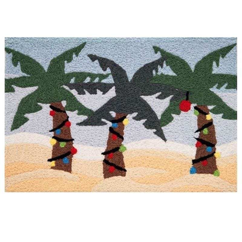 beach-christmas-palm-trees-jellybean-area-rug-800x800 75+ Coastal Jellybean Rugs and Beach Jellybean Area Rugs For 2020