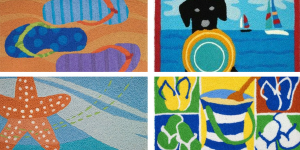 Beach Themed Jellybean Area Rugs