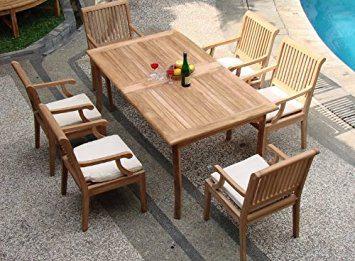 14-outdoor-teak-furniture-set Best Teak Patio Furniture Sets
