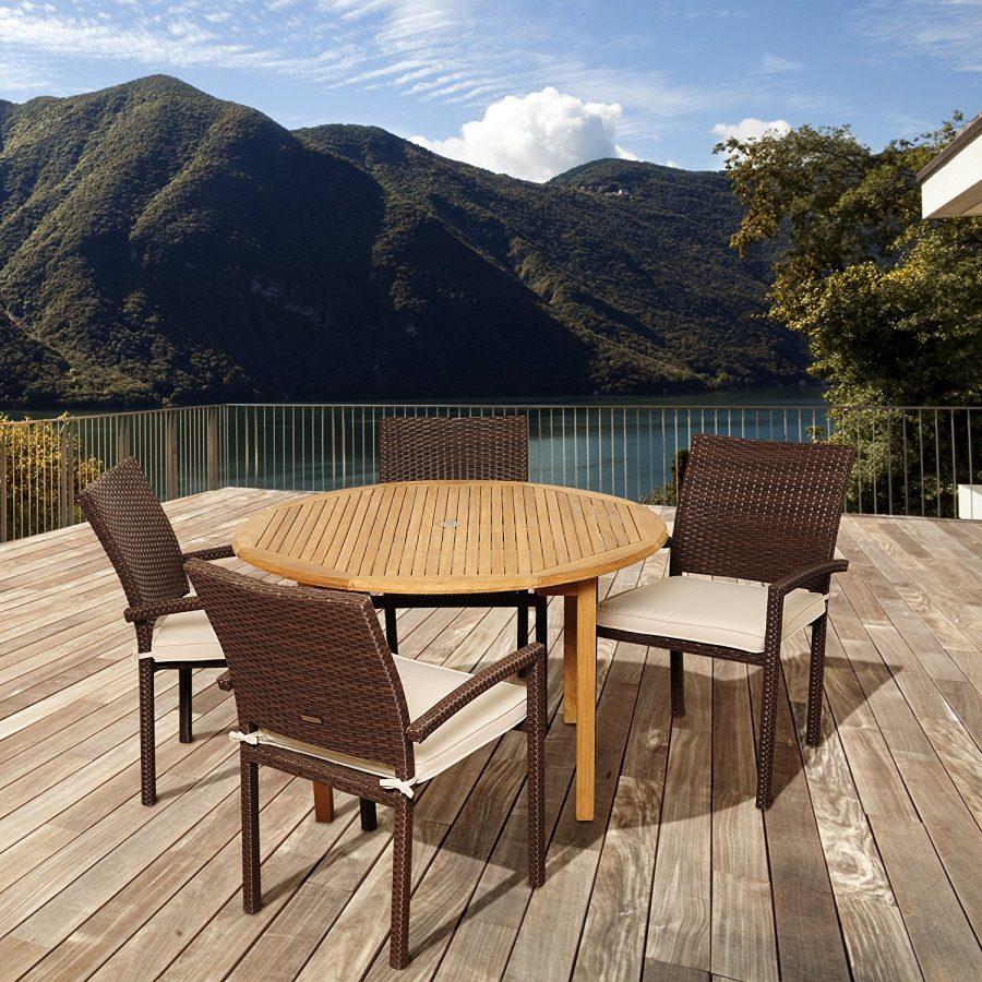 15-outdoor-teak-furniture-set Best Teak Patio Furniture Sets